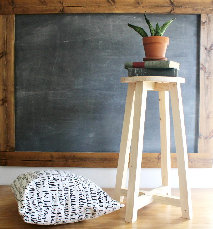 How To Make A Super Simple DIY Bar Stoolfree Building Tutorial Build Your Own Stools S36