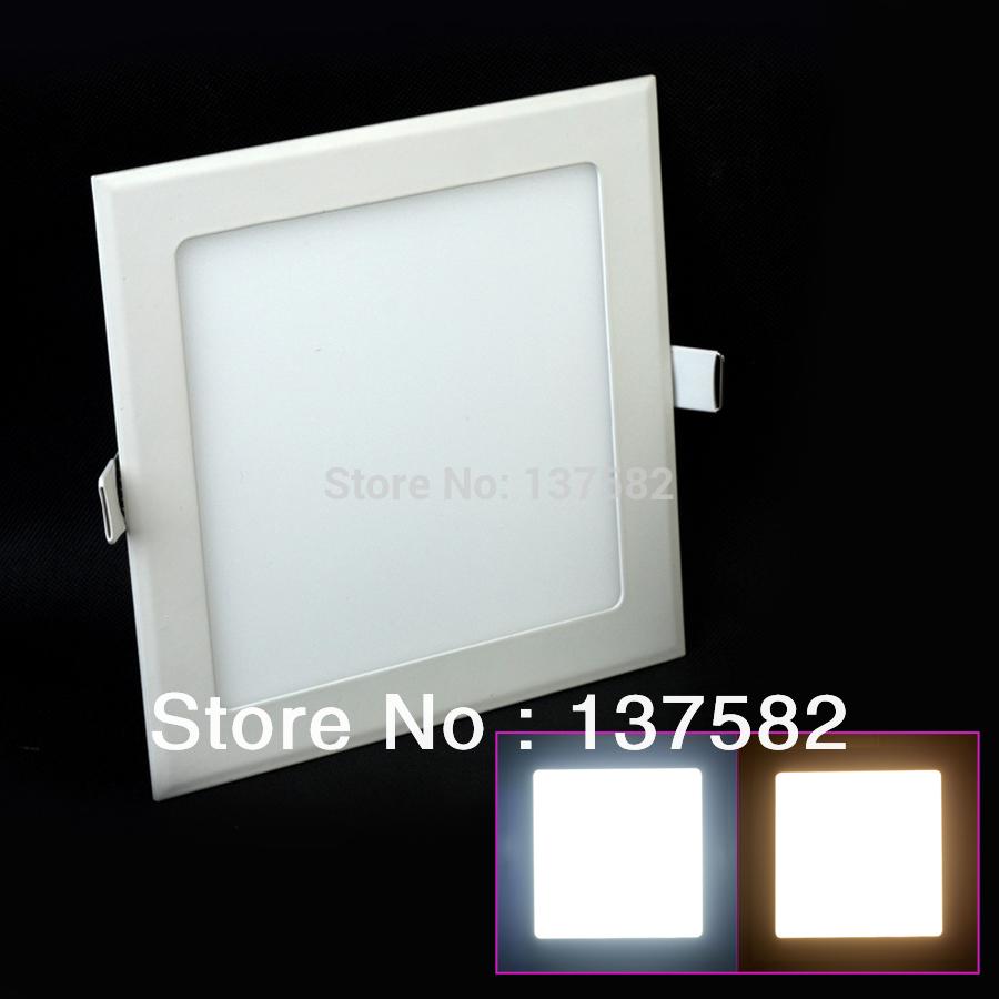 25 Watt Square LED Ceiling Light Recessed Kitchen Bathroom Lamp AC85 265V LED Down light Warm