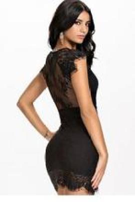 vestido de renda preto Aliexpress