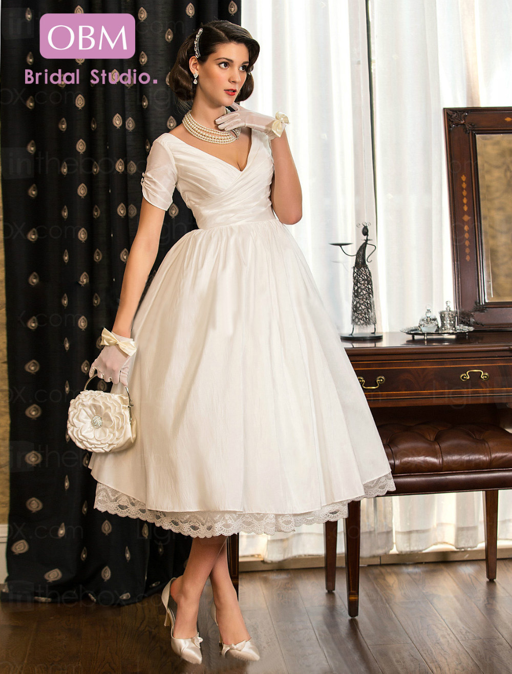 strapless tulle tea length wedding gown wedding dresses tea length Informal Wedding Dresses Tea Length Aline Tealength Sweetheart