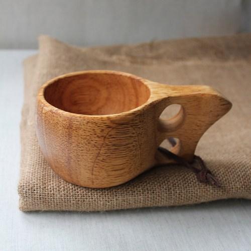 Medium Of Wooden Travel Mug