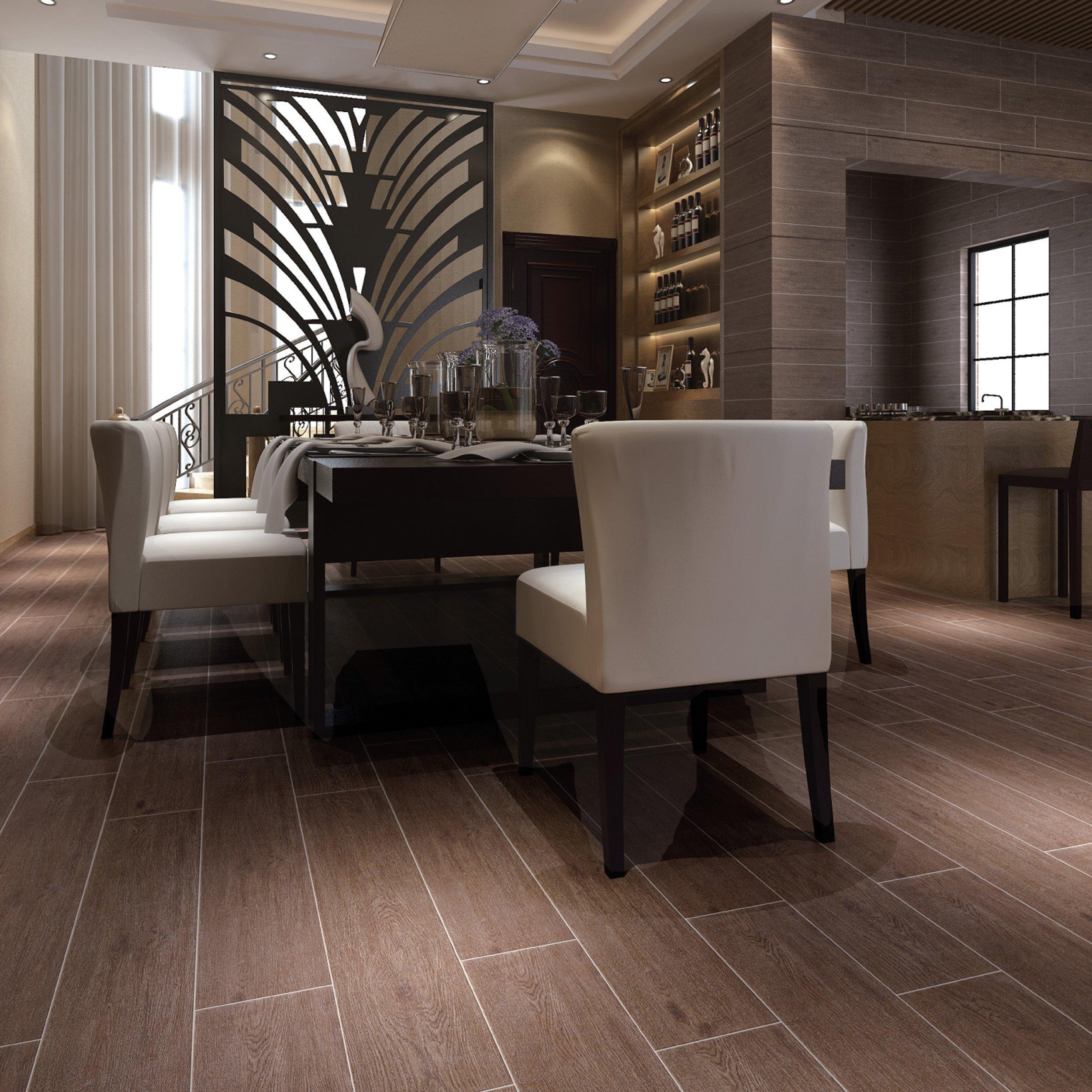 Floor U0026 Decor Maduro Dark Wood Plank Ceramic Tile 8 X 40