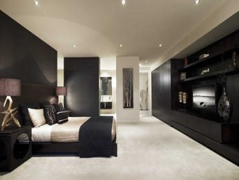 modern bedroom design idea with wood panelling u0026amp builtin shelving using beige colours s