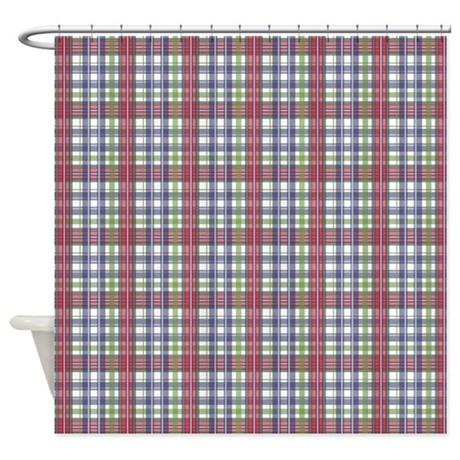 Grey And Purple Tartan Curtains