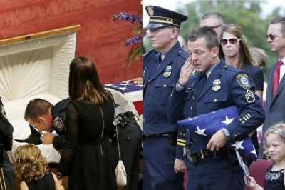 Heartbreaking funeral service with full honours for Oklahoma police dog killed in the line of ...