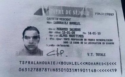31 year-old French-Tunisian Mohamed Lahouaiej Bouhlel, suspected of killing more than 80 people