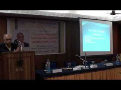 Dr. Chandra Ranade on 'Various Indicators of Economic Development at State Levels in India