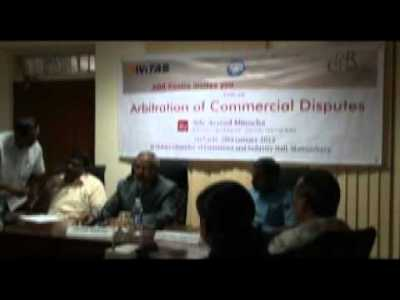 A Talk on Arbitration of Commercial Disputes by Adv. Arvind Minocha -1