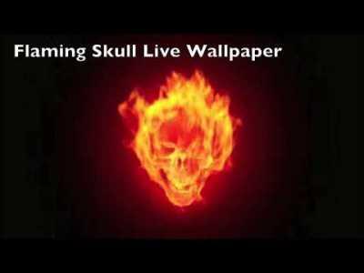 Flaming Skull Live Wallpaper - YouTube
