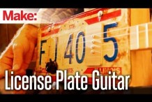 Turn it up to 11 With This License Plate Guitar Weekend Project