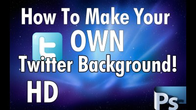 [2012] How To Make Your Own Twitter Background With Photoshop! + Download - YouTube