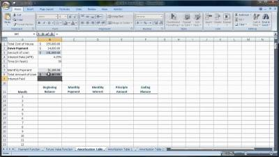 Excel 2007-2010 Amortization Tables (Loan Amounts You Pay Each Month).mov - YouTube