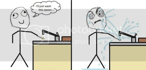 Washing a spoon - true story