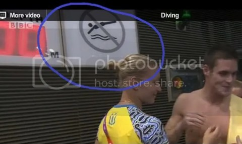 No diving at the Olympic Diving finals?