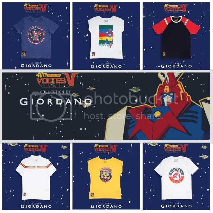 Giordano x Voltes V Collection Series 2