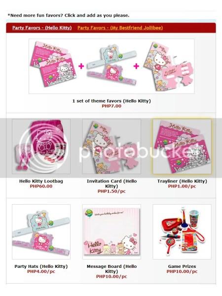 Jollibee Hello Kitty Party favors