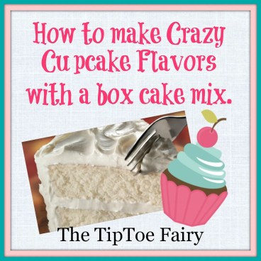 Crazy Cupcake flavors from a Box