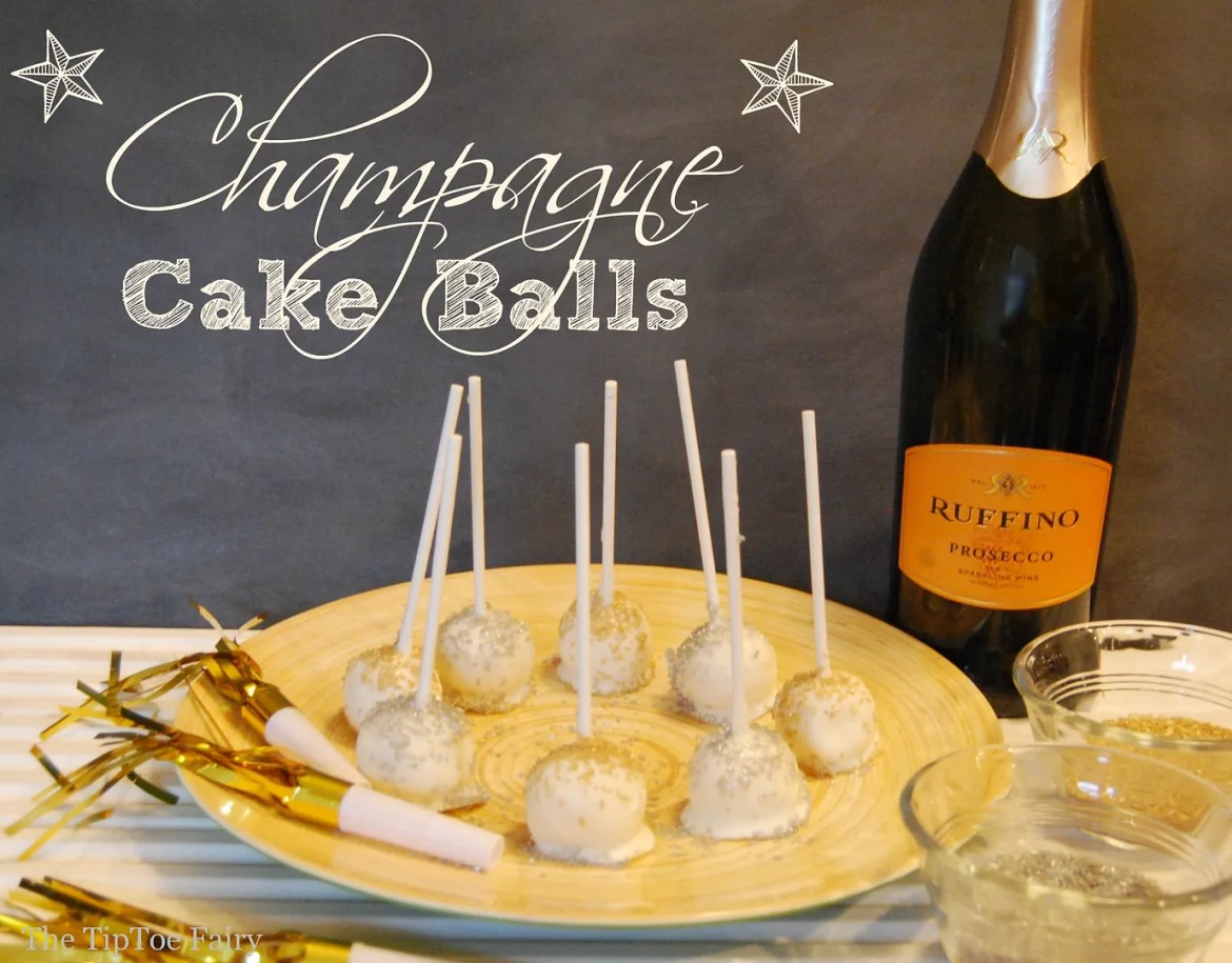 The TipToe Fairy's Champagne Cake Pops