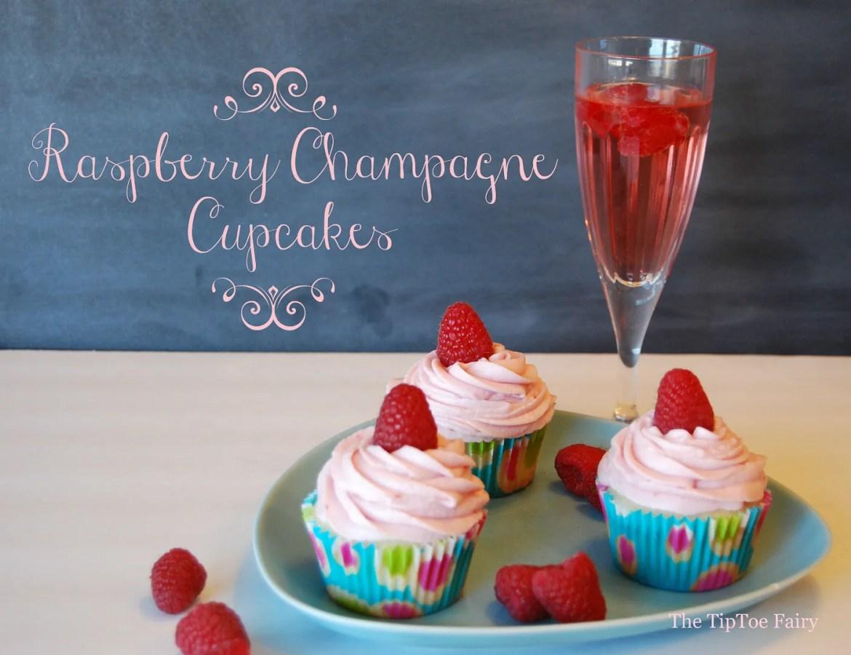 Raspberry Champagne Cupcakes