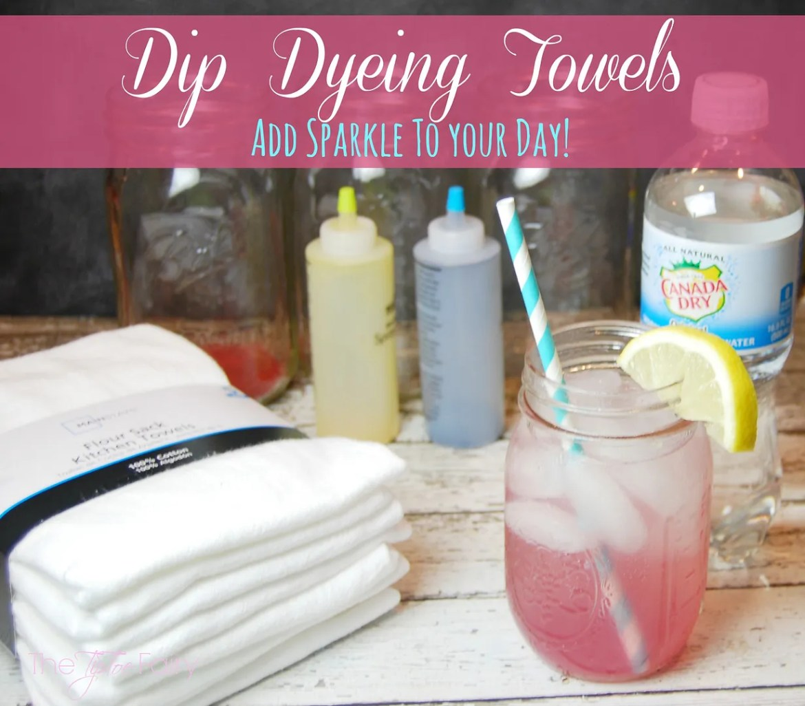 Dip Dyeing Towels Tutorial | The TipToe Fairy #AddSparkle  #shop #crafttutorial #dyetutorial