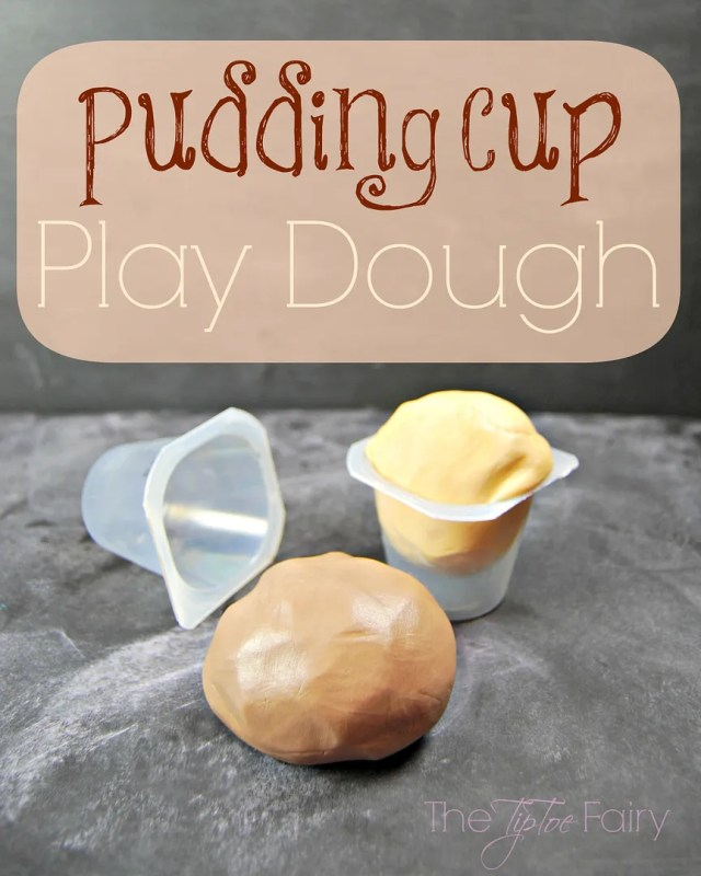 Pudding Cup Play Dough | The TipToe Fairy