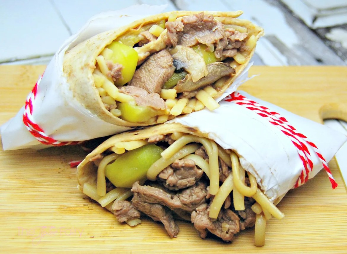 Asian Stir Fry Lamb Wraps - easy to make and delicious. Perfect for lunches! #LocalLambGlobalFlavor #CleverGirls #asianrecipes