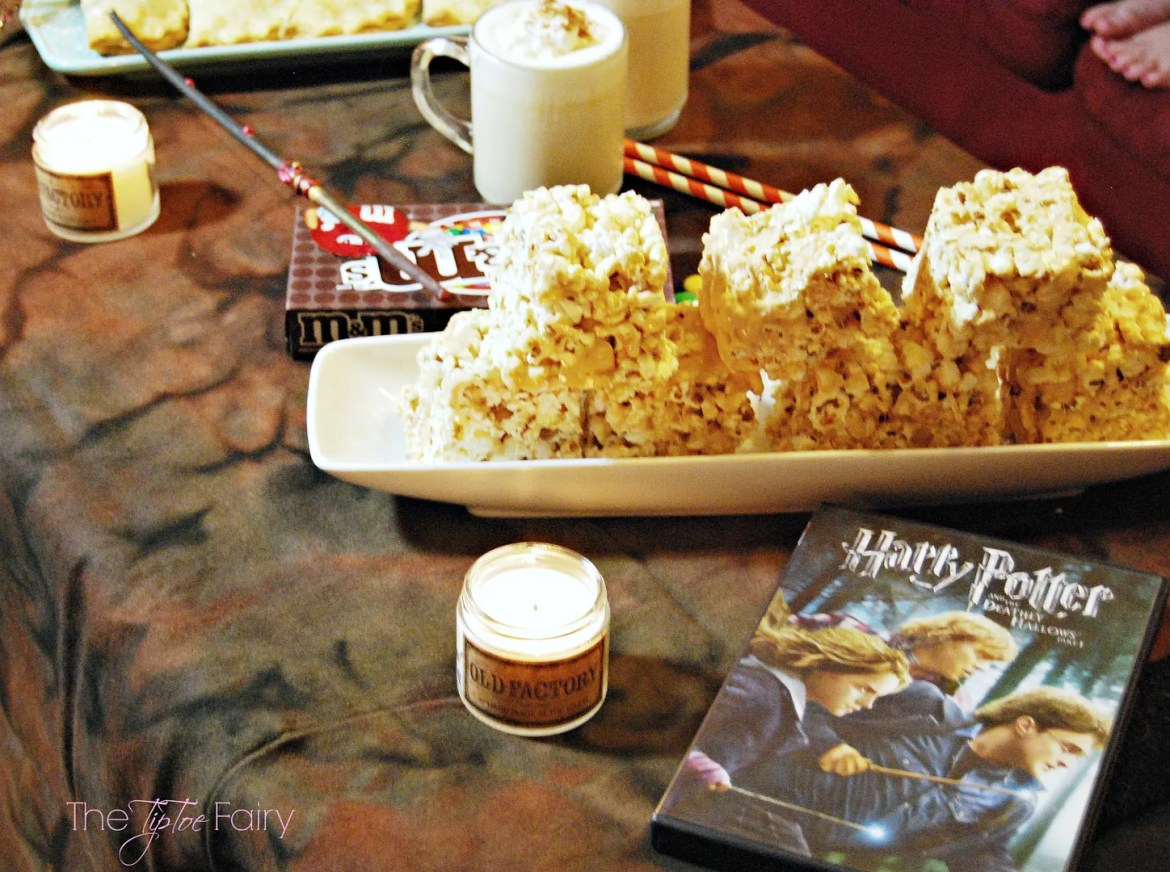 Butter Beer Popcorn with Harry Potter movie night