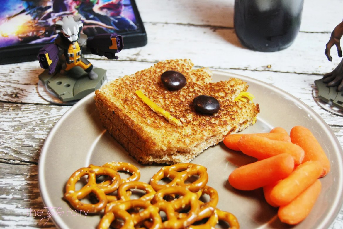 Guardians of the Galaxy Theme Family Movie Night with Groot grilled turkey and cheese sandwiches and layered Gamora drinks | THe TipToe Fairy #OwntheGalaxy #ad