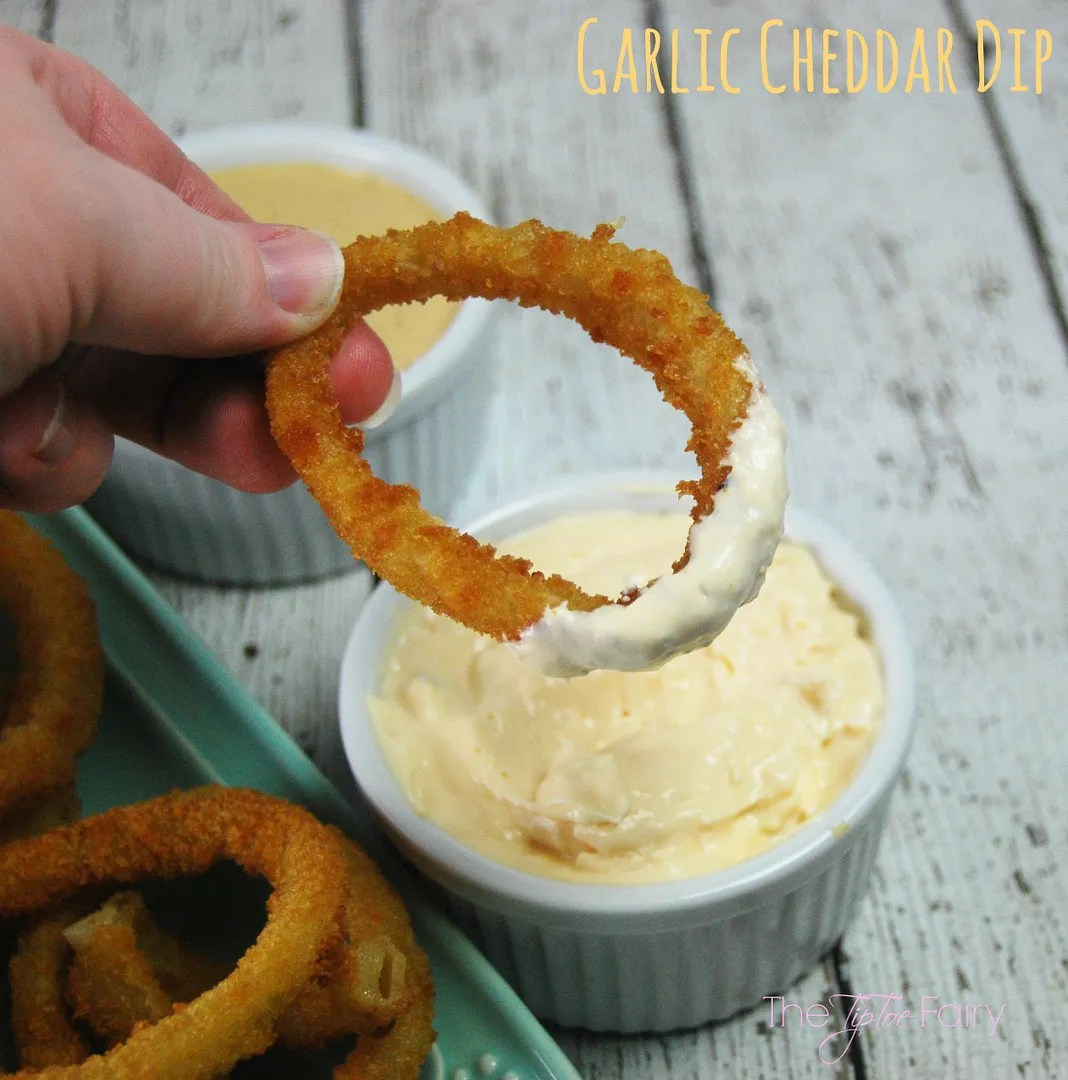 Alexia Onion Rings with Garlic Cheddar Dip and Pickle Dip! | The TipToe Fairy #GameTimeGrub #ad