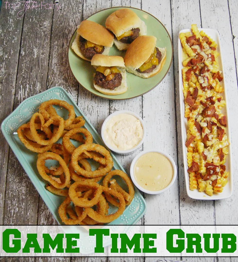 Check out our favorite Game Time Grub with our favorite dips for french fries and onion rings! | The TipToe Fairy #GameTimeGrub #ad