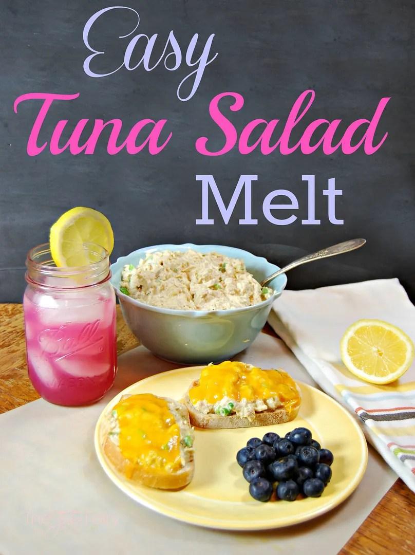 Easy Tuna Melt | The TipToe Fairy #tunameltrecipe #tunasaladrecipe