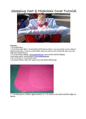 FREE Shopping Cart Cover PDF Pattern | The TipToe Fairy
