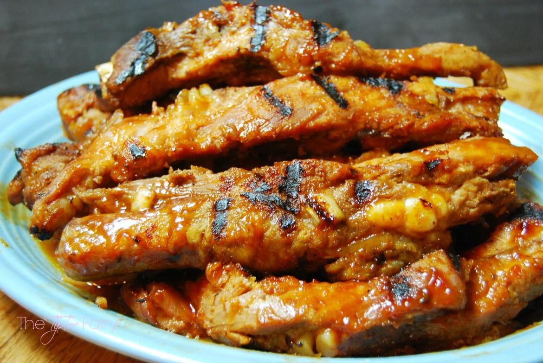 FIVE Ingredient Crockpot Ribs   The TipToe Fairy #slowcookerrecipes #ribsrecipes