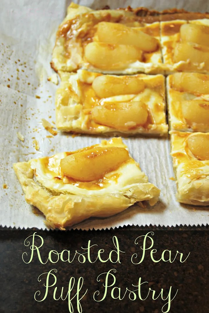 Roasted Pear Puff Pastry | The TipToe Fairy #puffpastry #dessertrecipes #dulcedeleche