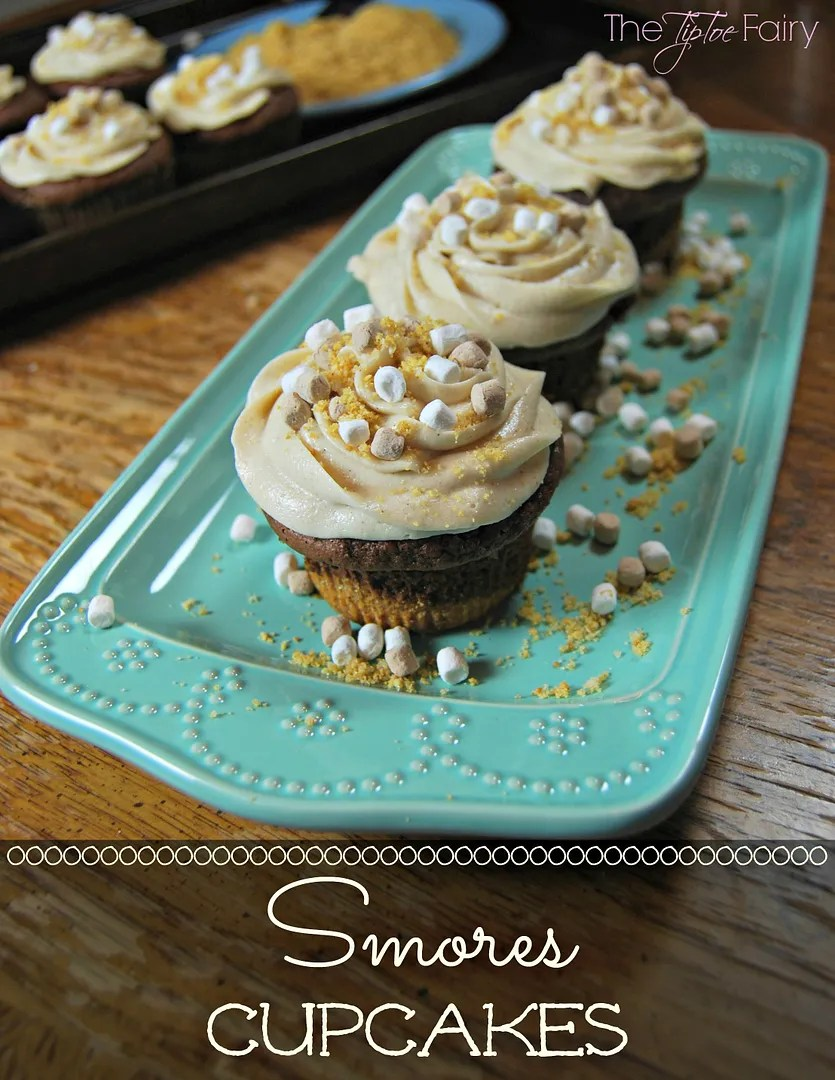 Smores Cupcakes | The TipToe Fairy #smores #cupcakes #smoresrecipes #cupcakerecipes