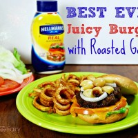 #Burgervention: Hellman's Best Ever Juicy Burger with Roasted Garlic