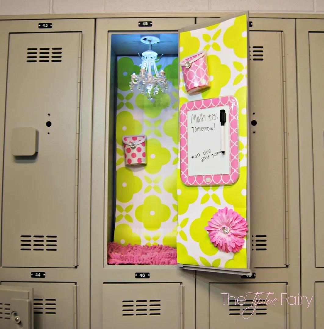 Trick Out Your Locker with LLZ from LockerLookz | The TipToe Fairy #LLZgirlz #lockerdecor #lockerdesign #lockersolutions