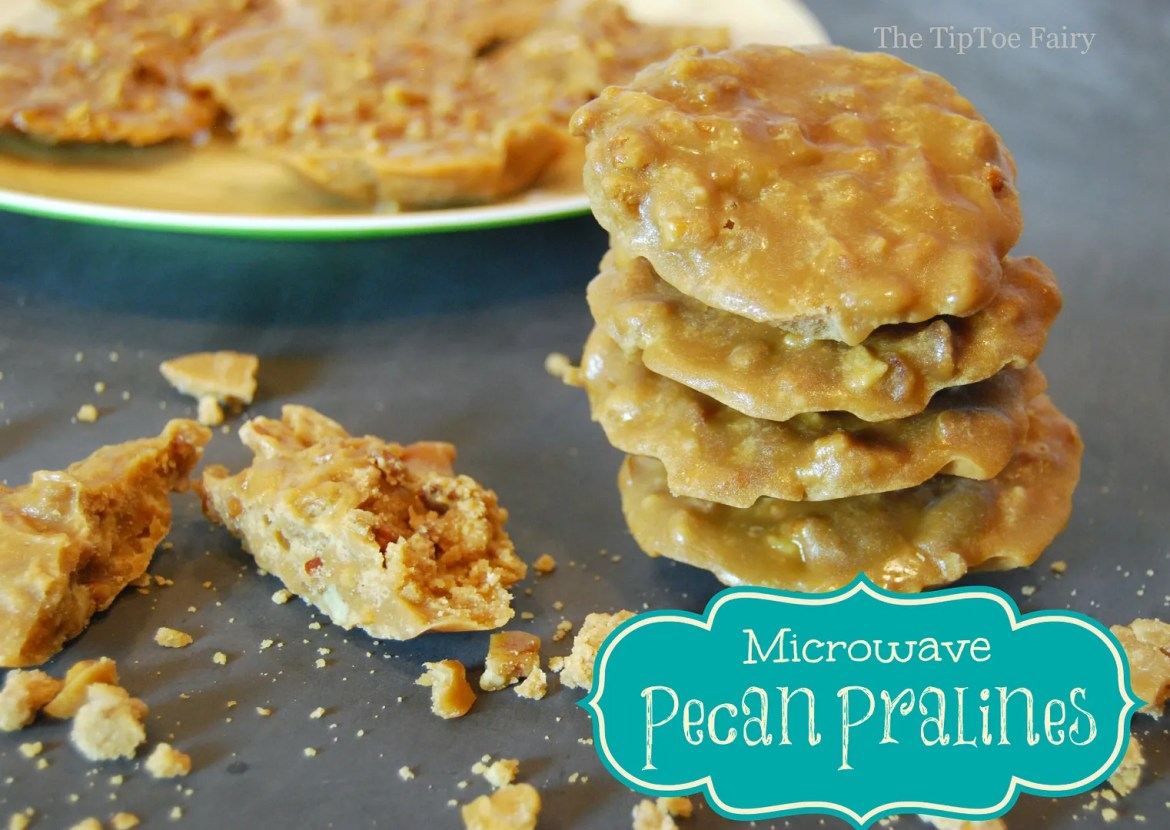 Microwave Pecan Pralines - super easy to make and great for Christmas or Holiday gift giving | From The TipToe Fairy #pralines