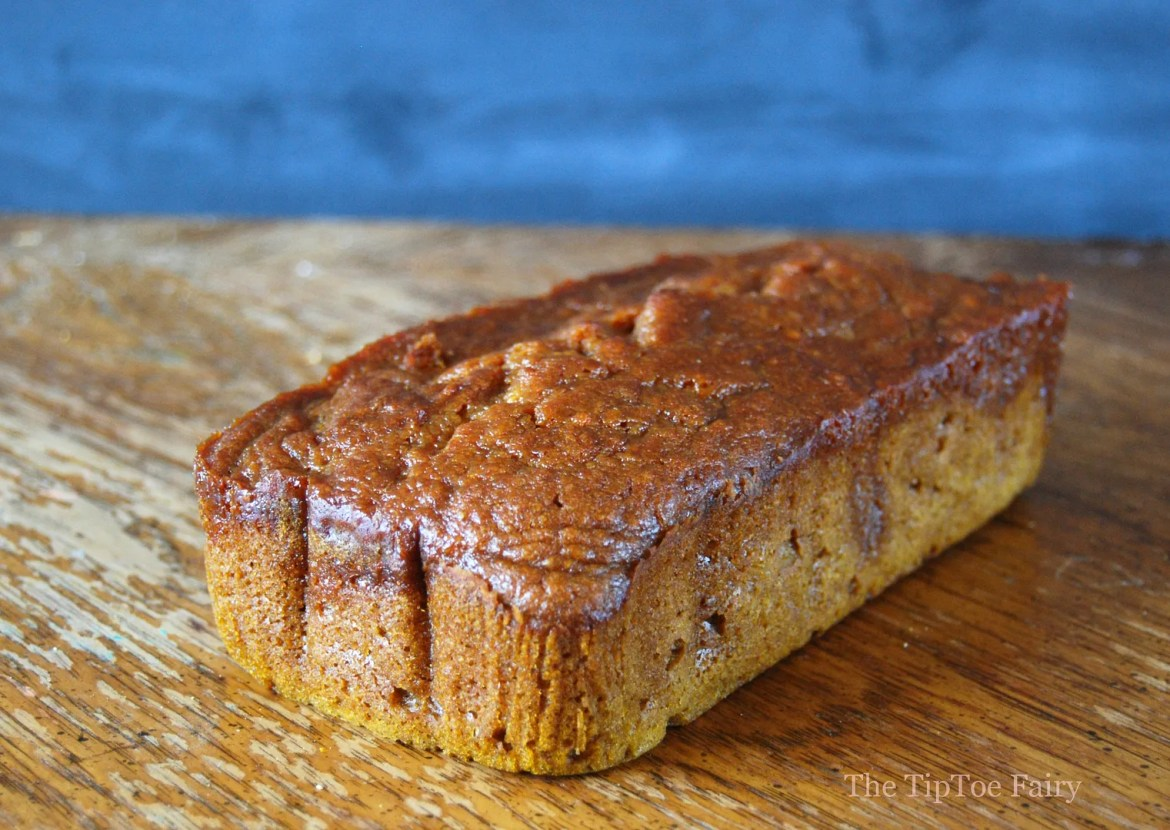 Pumpkin Bread with Salted Caramel Sauce