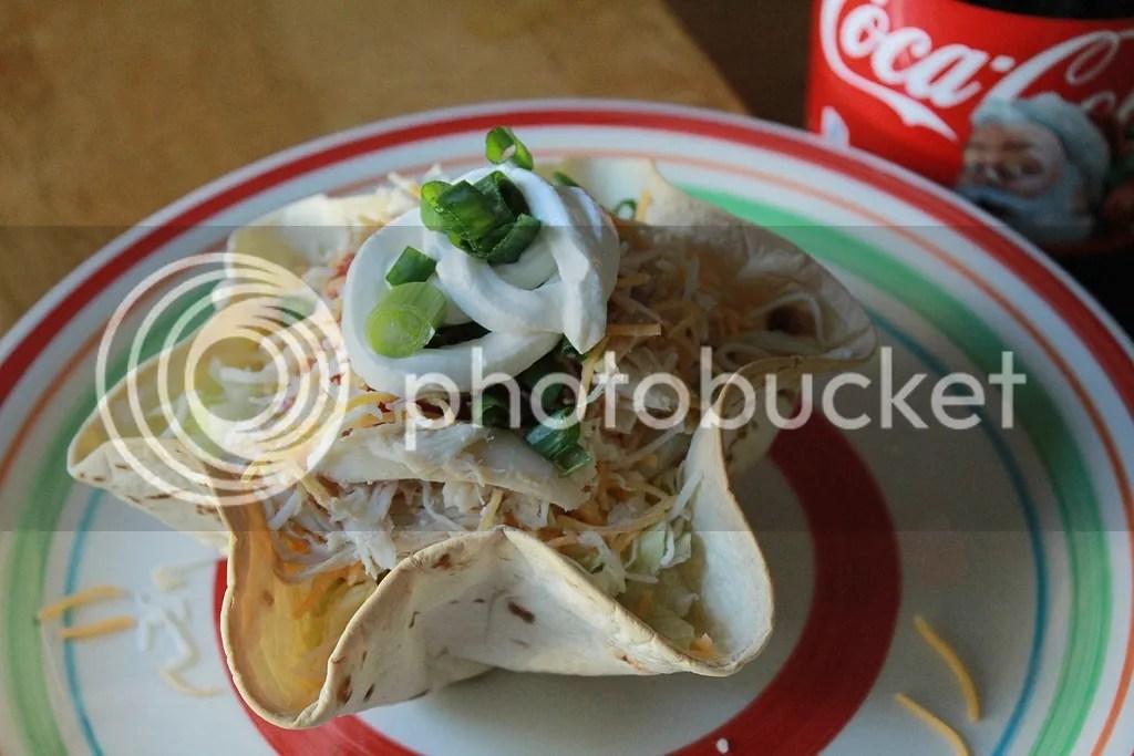 Shredded Chicken Taco Bowl Salad