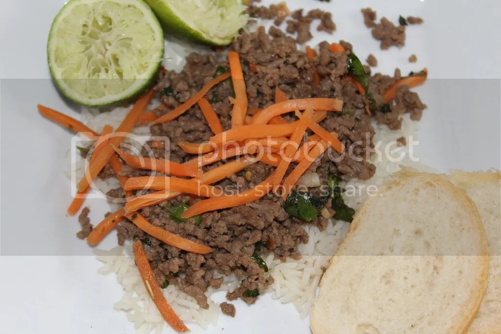 Thai Beef with Carrot-Basil Salad