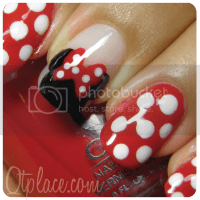 Disney Minnie Mouse nail art