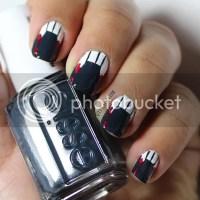 Halloween Dracula nail art