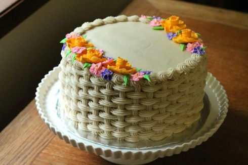 Flower Basket Cake | Korena in the Kitchen