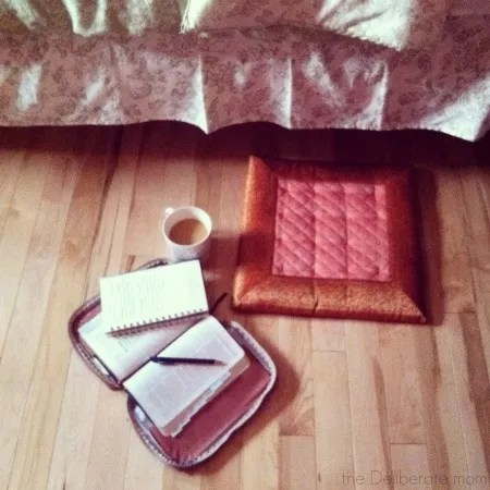 I always start my homeschool day with breakfast, coffee, prayer, and the Bible.