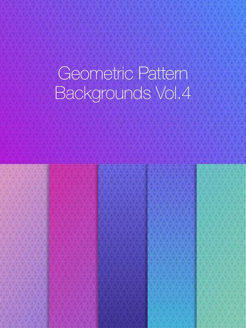 Geometric Pattern Backgrounds vol.4