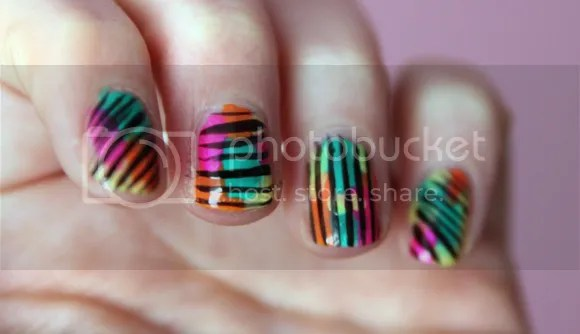 NOTD Rainbow Graffiti