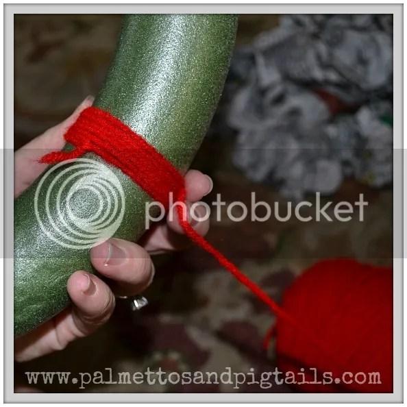 DIY Yarn Ball Wreath Tutorial