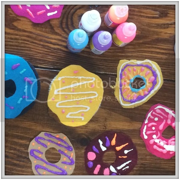 Upcycled Sock Donuts using Puffy Paint, Felt and Socks