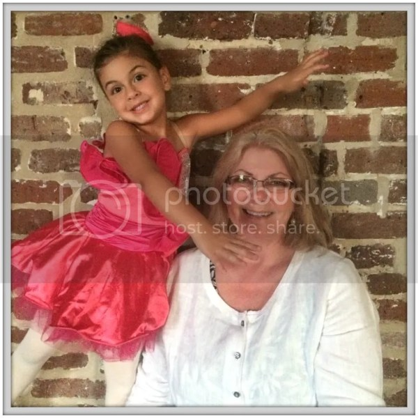 She was so happy that SueSue was able to come to her ballet recital!
